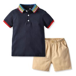 $enCountryForm.capitalKeyWord Australia - Summer New baby boy clothes Infant Outfits baby Boys Suits Boys Clothing Sets shirt T shirt+Shorts baby Best Suits boys clothes A4765