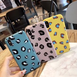 Leopard Print Candy Australia - Mobile phone shell candy color leopard print soft shell anti-dropping mobile phone case wholesale for iphone X XR XS MAX 8 7plus