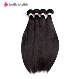 Brazilian Remy Hair Straight 12 Inch Australia - 8A Brazilian Hair Bundles Silky Straight Weaves Remy Human Hair 3 4pcs lot Natural Color Grade 8-30 Inch Hair Weft