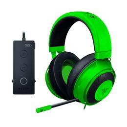 $enCountryForm.capitalKeyWord UK - Razer Gaming Headset Stereo 7.1 Kraken Essental Wired Standard Edition Green Gaming Headset 3.5mm USB Professional Game Headphone
