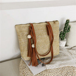 $enCountryForm.capitalKeyWord Australia - Summer Women straw bag Simple Versatile Shoulder Bag Large-capacity Fashion Wild Handbag ladies Beach bolsa feminina