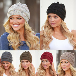 2486960f289 Woman Fashionable Winter 2018 Knitted Warm Hat Hip Hop Skiing Beanies  Skullies Ladies Girls Caps d52