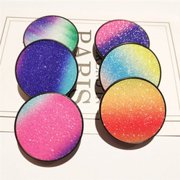 $enCountryForm.capitalKeyWord UK - 360 Degrees Glitter Bling Cell Phone Holder Rainbow Sticker Color Glitter Panel Patch Jewelry Mobile Phone Mounts For iPhone 7 8 XS MAX