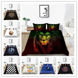 Discount queen size bedding for girls Modern New Style Bedding Set Duvet Cover 3 Piece Trendy Bed Spreads Twin Full Queen Size for girls boys adult