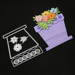 Discount baskets flowers - Flower Basket Dies Metal Cutting Dies New 2019 Scrapbooking Valentine's Day Decoration Craft Dies Cut for Card Maki