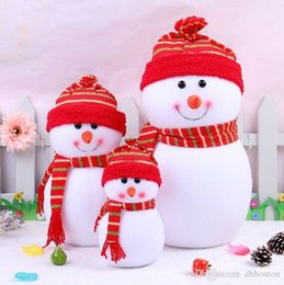 outdoor santa claus decorations 2019 - Outdoor christmas decoChritmas Small Snowman With Colorful For Chrismas Cute Christmas Scene Decorations Santa Claus Xma