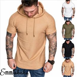 $enCountryForm.capitalKeyWord Australia - Fashion Men Short Sleeve Tee Casual Hooded Hoodie Summer T-Shirt Top M-3XL