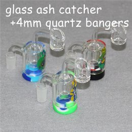 $enCountryForm.capitalKeyWord NZ - New 2inch Glass Ash Catchers Silicone Container Reclaimer with 14mm 18mm Thick Pyrex Ashcatcher Bong Water Pipes quartz bangers for Smoking