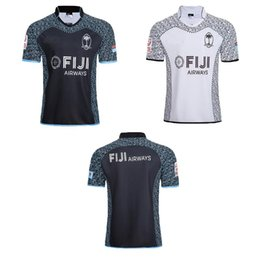 241984b16e3 Top Qualiyt 2018 2019 new FIJI Home away white black rugby Jerseys NRL  National Rugby League shirt jersey 18 19 fiji shirts size S-3XL