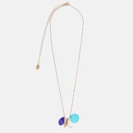 8f2df6fe72b4 Flatfoosie 2019 Moda Shell Collar Para Las Mujeres Simulado Perla  Declaración Geométrica Collar Largo Colgante Ocean Chic Joyería