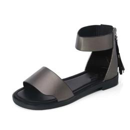 Ladies Flat Heel Footwear Australia - Women Flat Sandals 2019 Summer Shoes Woman Back Heel Open Toe Gladiator Style Sandal Female Fashion Flats Ladies Casual Footwear