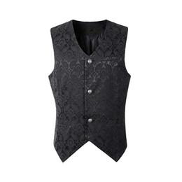 $enCountryForm.capitalKeyWord UK - MJARTORIA New Fashion Men Single Breasted Lapel Collar Waistcoat Jacquard Blazer Vest Gothic Steampunk Blazer Dress Suit Short