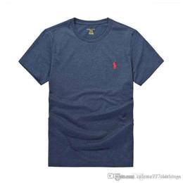 7155a837 Camisetas de diseñador de polo clásico marca casual para hombre camisetas  de verano Patrón ecuestre algodón negro camiseta hombres Ropa de lujo