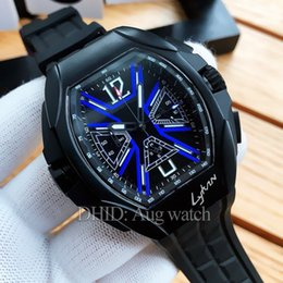 55mm Watches Australia - luxury watch chronograph function mens watches import quartz movement wristwatches rubber strap 55mm tonneau 316L steel Mens Watches R521