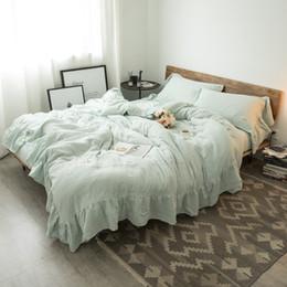 Queen Size Princess Bedding Australia - 9 colors princess Bedding Set White Grey Pink Cotton Bed Sheet set Queen King size Duvet Cover Fittet sheet parure de lit