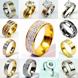 $enCountryForm.capitalKeyWord NZ - Women Wedding Engagement Ring Stainless Steel Top Quality Women Jewelry Big collection