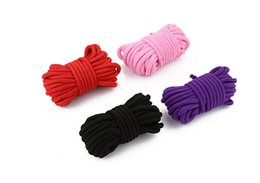 Wholesale 5M Fetish Alternative Slave Bondage Rope Restraint Cotton Tied Rope Sex Products For Couples Adult Game BDSM Erotic Sex toys