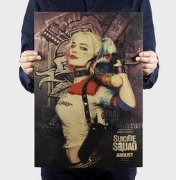 buddhism posters NZ - Suicide Squad Margot Robbie Harley Quinn Film vintage Poster Home Decor Painting classic prints