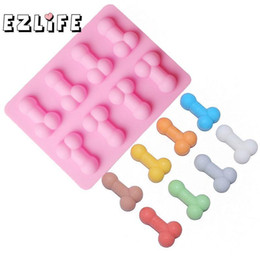 silicone soap mould maker UK - Sexy Penis Cake Dick Ice Cube Tray Silicone Mold Soap Candle Sugar Craft Tools Bakeware Chocolate Moulds Gf064 C19041301