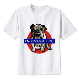 c2163fa1 English Tee Shirts UK - English Bull Terrier T Shirt Men Cartoon 2019 Cool  Funny White