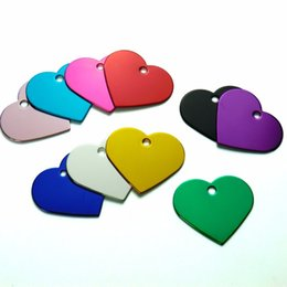 $enCountryForm.capitalKeyWord Australia - Heart Love Personalized Dog Cat Pet ID Tags Customized Engraving Name Phone No. For Dog Pet ID Tag Accessories Wholesale 100Pcs