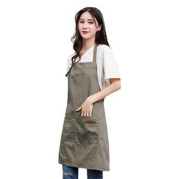 $enCountryForm.capitalKeyWord Australia - Women Home Cleaning Protect Canvas Pockets Apron Butcher Crafts Baking Chefs Kitchen Cooking Baking BBQ Plain Aprons Female
