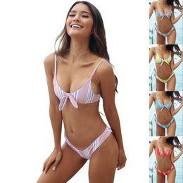 d27f664165f11 Pink bandeau bikinis online shopping - Summer Style Push Up Sexy Bikini Set  Strapless Tie Women