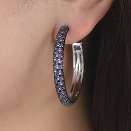 missvikki Professional Lady Accessories Multicolor Hoop Earrings Full Mini Crystal CZ Stone High Quality Women Birthday Gift