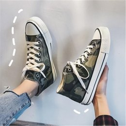 $enCountryForm.capitalKeyWord Australia - Camouflage men's shoes army green high canvas shoes Korean version of the wild casual student personality