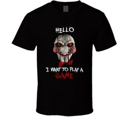 Play Tee Australia - I Want To Play A Game Jigsaw T Shirt Tee Saw Horror Movie Scary Gift New From US Tees Custom Jersey t shirt top new fashion