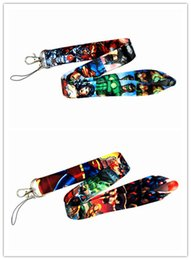 $enCountryForm.capitalKeyWord Canada - New 20pcs Marvel DC Comics Superhero Style Lanyard Neck Straps ID Pass Key Phone Whistle