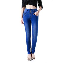 $enCountryForm.capitalKeyWord UK - Latest hot skinny jeans pants for women blue stretch pencil denim trousers