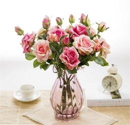 $enCountryForm.capitalKeyWord Australia - Artificial Latex Rose Flowers for Wedding Two Heads Real Touch Flower Rose Fake Plant Home Decorations Wedding Party Bouquet Supplies