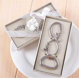 Wholesale forever love chrome beer bottle opener wedding favors and gifts for guests Party gifts supplier Bridal shower G434