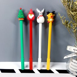 Writing decorations online shopping - Creative Stationery Gel Pens Plastic Black Ink mm Pen Student Writing Tools Writing Pens Gifts for Christmas Christmas Decorations