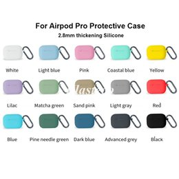 iphone bluetooth accessories NZ - Top Quality Silicone Airpod Case For Airpod Pro Case With Hook For Apple Air Pods Pro Case For TWS Bluetooth Earphone protector Accessories