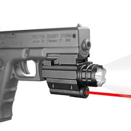 Wholesale HQ Tactical Pistol Flashlight Red Laser Sight Strobe Light For Glo ck G17 G19 20mm Rail Mount Rifle Shotgun 250 Lumens CREE LED FREE
