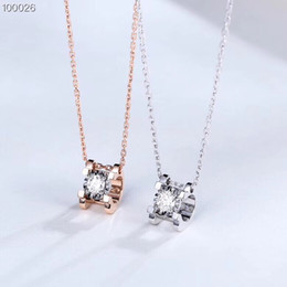 $enCountryForm.capitalKeyWord NZ - Factory Diamond pendant necklace Gold Jewelry 18k White and Rose Solid Gold Necklace like a cow's head for Women AU750 Stamped wholesale