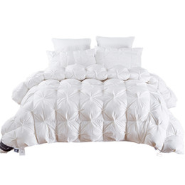 Luxury king comforters online shopping - 2 kg Goose Duck Down Quilt Duvet King Queen Twin size White Blue Pink Brown Luxury Winter Blanket Comforter Filler