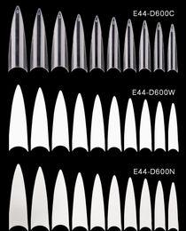 Женщины 600 шт. Французские наконечники для ногтей прозрачные белые ложные ногти ABS Искусственный фальшивый УФ-гель для ногтей Арт подсказки высокого качества на Распродаже