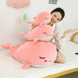 cartoon make toys NZ - Loveyle Super Soft Whale Plush Toy Cartoon Animal Fish Stuffed Doll Baby Sleeping Pillow Cushion Kid Girlfriend Christmas Gift