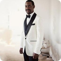 $enCountryForm.capitalKeyWord Australia - Latest Coat Pant Designs White Groom Tuxedos Men Wedding Suits Best Man Blazer Jacket Three-Piece Slim Fit Terno Masculino Costume Homme