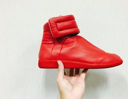 Discount maison sneakers - Maison Martin Margiela man casual shoes Future Genuine Leather Fashion Men Shoes High Tops Red Bottoms man Flat Shoes ma