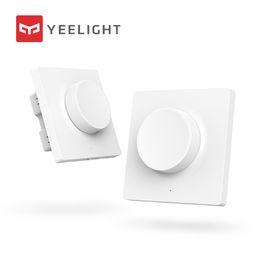Dimmer Switch Dimming Lights NZ - Original Xiaomi Mijia Yeelight Smart Dimmer Switch Intelligent adjustment Off light still work 5 in 1 control Smart switch