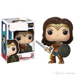 good girl baby toys UK - Good Cute Funko POP Wonder Woman Movie Character Action Figure Dolls Collection Model Toys #172 baby toys