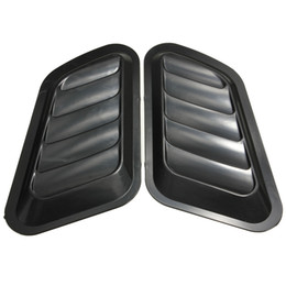 $enCountryForm.capitalKeyWord Australia - 1 Pair Car Air Flow Intake Scoop Turbo Bonnet Vent Cover Hood Fender Gray Black