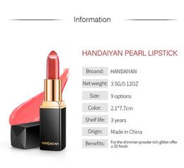 Luxury Lipstick Brands Australia - HANDAIYAN Brand Professional Lips Makeup Waterproof Long Lasting Pigment Nude Pink Mermaid Shimmer Lipstick Luxury Makeup