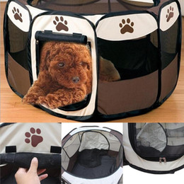 kennels pens Australia - Dog House Cage Playpen For Dog Folding Pet Tent Cat Tent Puppy Kennel Easy Fence Dog House