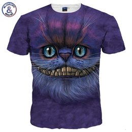 $enCountryForm.capitalKeyWord UK - Mr .1991inc New Fashion Men  Women 3d T -Shirt Short Sleeve Tees Print Lovely Cheshire Cat Quick Dry Summer Tops Tees