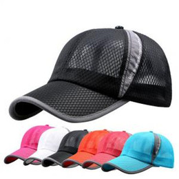 a0299dc86 Summer Quick Dry Mesh Baseball Caps Outdoor Sunscreen Casquette Casual  Sports Chapeu Letter Sun Hat LJJP162